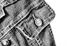 Fragment der Jeansjacke Stockbild