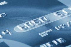 Fragment der Kreditkarte mit den Zahlen Lizenzfreies Stockbild
