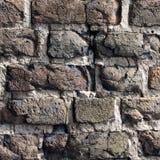 Fragment der Lutsk-Schloss-Backsteinmauer Lizenzfreie Stockfotos