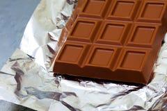 Fragment der Milchschokoladestange Lizenzfreies Stockbild