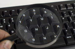 Fragment der schwarzen Computertastatur Lizenzfreies Stockfoto