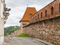 Fragment der Stadtmauer Stockfotografie