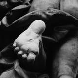 Fragment der Statue Achilles Heel Stockbilder
