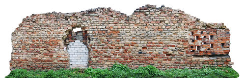 Fragment der zerstörten alten Verstärkung des sechzehnten CEN Lizenzfreies Stockfoto
