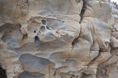 Fragment des alten Steins oder des Felsens Stockfotografie