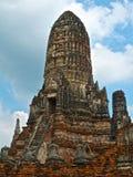 Fragment des buddhistischen Tempels Wat Chaiwatthanaram, Ayutthaya, Thailand lizenzfreies stockbild
