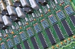 Fragment des composants électroniques Images stock