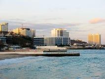 Fragment des Dammes des Schwarzen Meers vor der Küste von Odessa Lizenzfreie Stockfotos