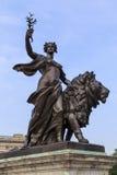 Fragment des Denkmals zur Königin Victoria, London Stockfotografie
