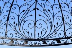 Fragment des Eisens bearbeitet mit schöner künstlerischer Form stockbilder