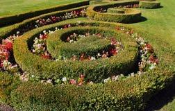Fragment des formalen Gartens Stockbild