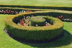 Fragment des formalen Gartens Stockfoto