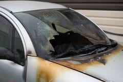Fragment des gebrannten Autos lizenzfreie stockfotos