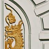 Fragment des hölzernen Bogens in Thailand Stockfoto