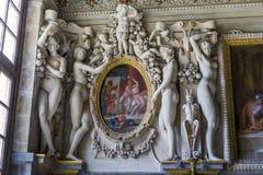 Fragment des Innenraums der königlichen Wohnungen Lizenzfreie Stockfotografie