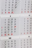 Fragment des Kalenders Stockfotografie