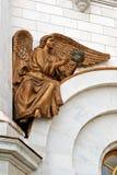 Fragment des meubles externes d'un temple chrétien Photos stock