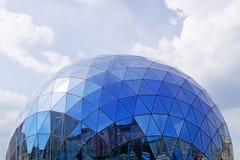 Fragment des modernen Glasgebäudes Lizenzfreies Stockfoto