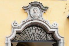 Fragment des Mozart-Hauses Stockfotos