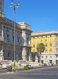 Fragment des Obersten Gerichts der Aufhebung in Rom in Italien lizenzfreies stockbild