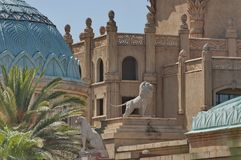 Fragment des Palastes des verlorenen Stadthotels in Sun City Stockfotos