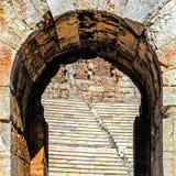 Fragment des ruines de l'Odeon de Pericle Photographie stock