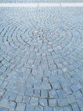 Fragment design cobblestone street royalty free stock image