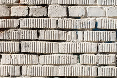 Fragment of dirty vintage grunge brick wall. Horizontal texture. For abstract light background, pattern, wallpaper or Royalty Free Stock Photography