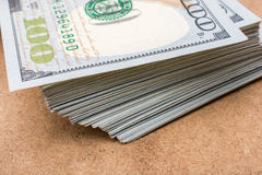 The fragment of 100 dollar bill Royalty Free Stock Photo