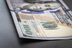Fragment 100 dollarrekening Stock Foto's