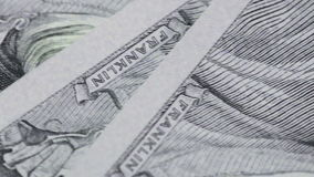 Fragment of dollars stock video footage