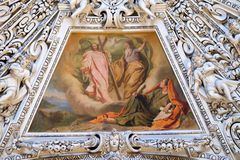 Fragment of the dome in the Chapel of the Holy Spirit, Salzburg Cathedral Royalty Free Stock Image