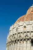 Fragment of the dome of the Pisa Baptistery of St. John Stock Photo