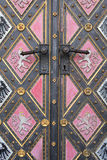 Fragment of door of the cathedral Royalty Free Stock Photography
