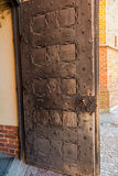 Fragment of the door to the cathedral in Pelplin in Poland Royalty Free Stock Photography