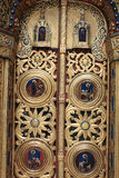 Fragment of a doorway church Stock Images
