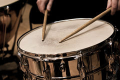 Fragment of the drum in the orchestra Stock Photography