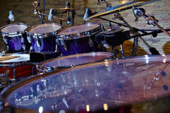 Fragment drums close up. Selective focus Stock Photography