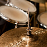 Fragment drumset closeup Royalty Free Stock Images