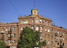 Fragment du bâtiment à Erevan l'arménie Images libres de droits