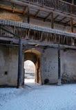 Fragment du château de Gruyeres photo libre de droits