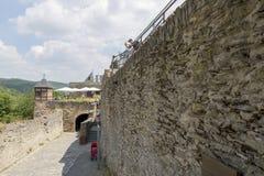 Fragment du château de Marksburg en Allemagne photos stock