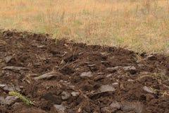 Fragment du champ labouré Image libre de droits
