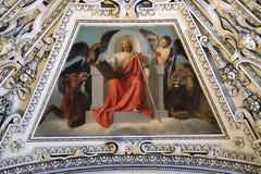 Fragment du dôme dans la chapelle de la transfiguration de Jésus, cathédrale de Salzbourg Photographie stock