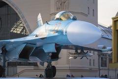 Fragment du fuselage d'un chasseur Su-27 moscou Russie photos stock