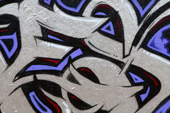 Fragment du graffiti photographie stock