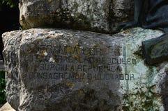 Fragment du monument à Antonio Franca Borges photographie stock