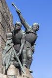 Fragment du monument à la bataille de Grunwald Photographie stock