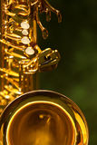 Fragment du saxophone Photo stock