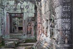 Fragment du temple s d'Angkor image libre de droits